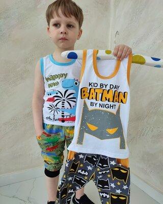 Летний комплект для мальчика Дино и Бетмен