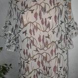 Блуза новая большого размера с принтом next