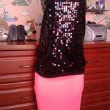 Mandee эффектный топ для летней вечеринки яркая h&m ассиметричная юбка 46-48р