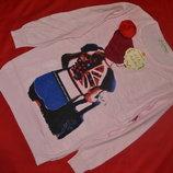 нарядный свитерок с модным принтом