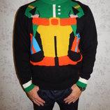 свитер мужской 30% шерсть новогодний стильный модный рМ