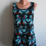 Трикотажная майка-блуза принт цветы originals, 12 размер