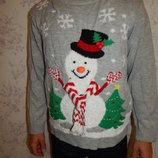 свитер мужской тёплый новогодний стильный модный рL