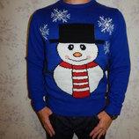 свитер мужской тёплый новогодний стильный модный рS