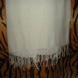 Супер шарф белоснежный,100%коттон