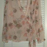 блузка artigiano 16 размер легкая тонкая на запах