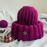 Очаровательная мохеровая шапочка такори