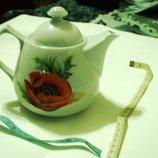 Чайник с Маками Коллекционный фарфор, ручная работа, раритет, Ссср