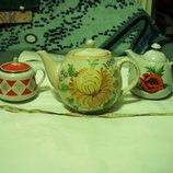 Чайник большой семейный Коллекционная керамика, раритет, Ссср