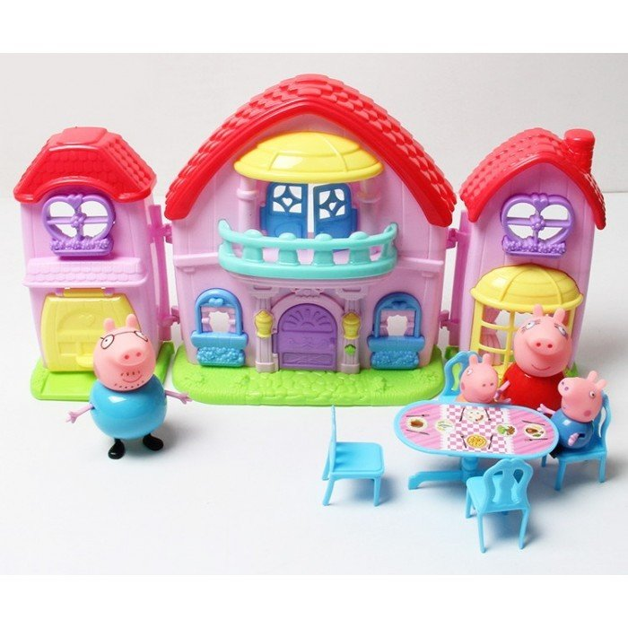 Игровой домик с мебелью Peppa Pig Семья свинки Пеппы, Свинка Пеппа,джордж,папа Свин,мала Свинка