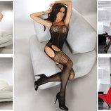 Боди-Сетка на тонких бретелях / Эротическое белье / Сексуальное белье / Еротична сексуальна білизна