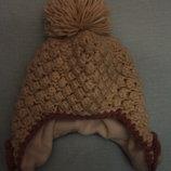 Зимняя очаровательная ф.Некст шапка очень теплая на ребенка до 3лет