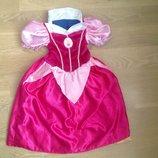 Карнавальный костюм 5-6 принцесса белоснежка бель розовый платье новый год утренник Disney Дисней