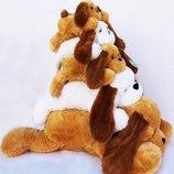 Плюшевая собака Тузик 53-140 см