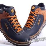 Timberland Winter M 65 Blue - зимние кожаные ботинки