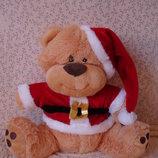 Большой нарядный новогодний Мишка мягкая игрушка Новый год подарок мишутка медведь