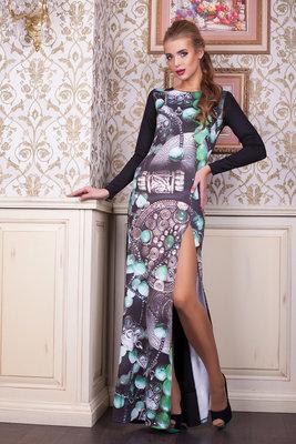 f2eca9429991 Шикарное длинное вечернее новогоднее платье в пол
