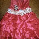 Шикарное нарядное платье Дисней на рост 74-80 см