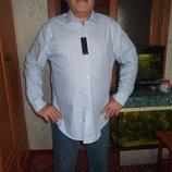 мужская нежно- голубая рубашка из Америки