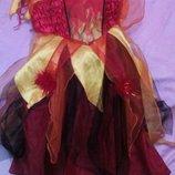 Карнавальное новогоднее платье стихии огня на 3-5лет Ledybird