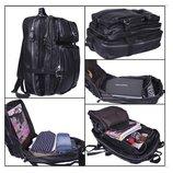 Кожаный черный рюкзак Tiding Traveller