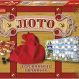 Настольная игра Русское лото деревянное бочки 12120001Р Ranok Creative 5861 Ранок креатив