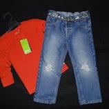 Модные джинсы George 2-3г 92-98см Мега выбор обуви и одежды
