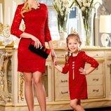 Потрясающее гипюровое платье 554
