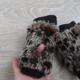 накладки на руки перчатки бока флис середина тоже флис леопард