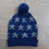 шапка детская 2,5-4,5 г синяя звезды новая