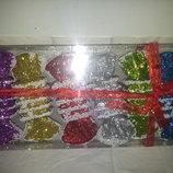 набор новгодних елочных игрушек конфетки из 6шт