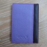 визитница портмоне кошелек кожа фиолетовый розовый оригинал Vintage 51