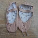 чешки обув для танцев кожа беж Bloch