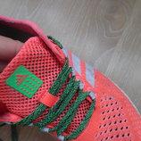 кросовки 19 см оранжевые розовые девочке денские сетка Adidas Адидас