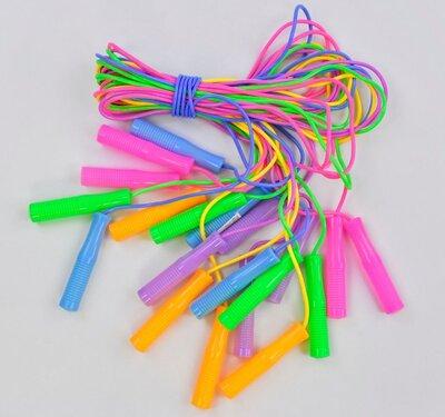 Скакалка детская цветная качество 2,5 м