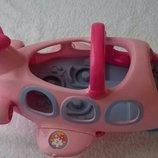 Музыкальный самолетик Fisher-Price Little People Lil' Movers Airplane Pink.