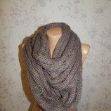 New look Графитовый шарф, хомут, снуд женский. Стильный, модный.