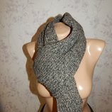 Лаконичный вязаный теплый женский/мужской шарф