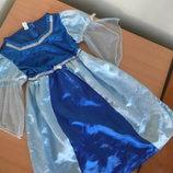 карнавальний костюм 3-5 л голубое синее утреник эльза принцесса голубое Disney Дисней