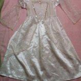 Карнавальное новогоднее платье Ангела, Снежинки для девочки 3-4лет Tesco