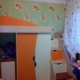 детская мебель кровать Савана и ступеньки -Украина-торг уместен