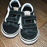 Кеды Vans замшевые черные модные 14 см