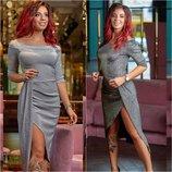 Коктейльное платье миди Блеск р. 42-52