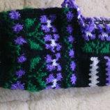 Носки тапочки ручная работа 100% натуральная шерсть
