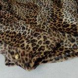 Теплая блуза леопард