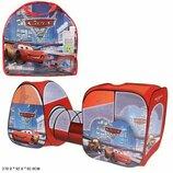 Палатка детская 8015 С тачки, две палатки с тоннелем