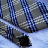 Мужской галстук в клетку цветной синий сочный Marks&Spencer