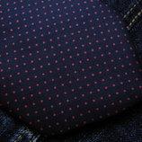 Мужской галстук темно синий красный в горошек из шелка Theros