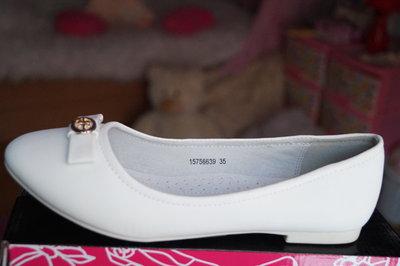 572756c80 Туфли для девочки белые новые нарядные р. 31, 32, 33, 34, 35: 346 ...