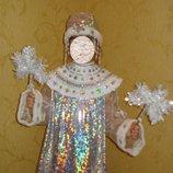 Продаж костюм сніжинка, снігурочка, ялинка, годинник, снежинка, снегурочка, елка, елочка, часы